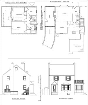 sample design phase drawings for home addition renovation - Drawing For Home