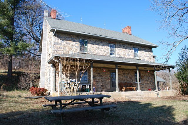 Front of Historic Stone Home Renovation in Knoxville, Maryland - Before