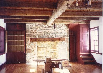 Interior After Reconstruction of Stone Home in Franklin County